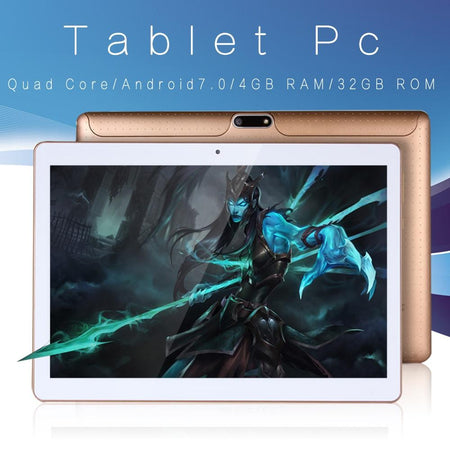 Tablette 10p Android 7.0 Quad core 32G double SIM 📱 - shop le vite