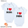 Nouveau-né Body J'aime Papa & Maman / Jolie barboteuse Love dad and mum - shop le vite