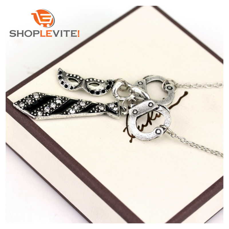 COLLIER ! Bijoux Menotte cravate de Grey IDEE CADEAU - shop le vite