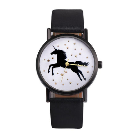 Montre Fashion Licorne et son bracelet cuir - shop le vite