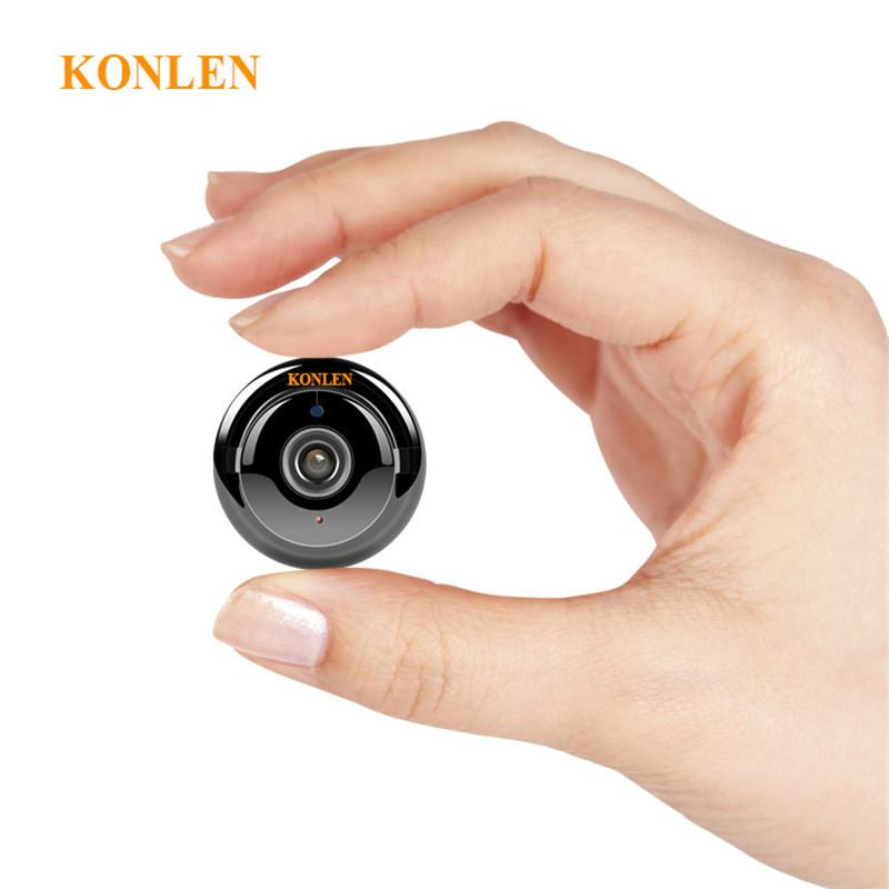 KONLEN Home Security MINI WIFI 720 p IP Caméra Sans Fil Petit CCTV Nocturne Infrarouge Vision Détection de Mouvement SD Fente Pour Carte audio APP - shop le vite