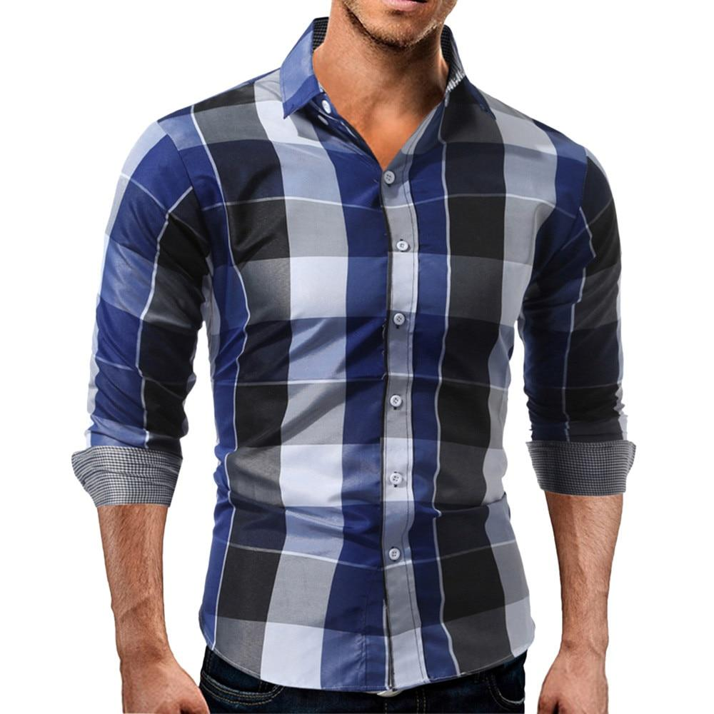 Men Polyester Regular Casual Full Sleeve Checkered Shirts - shop le vite