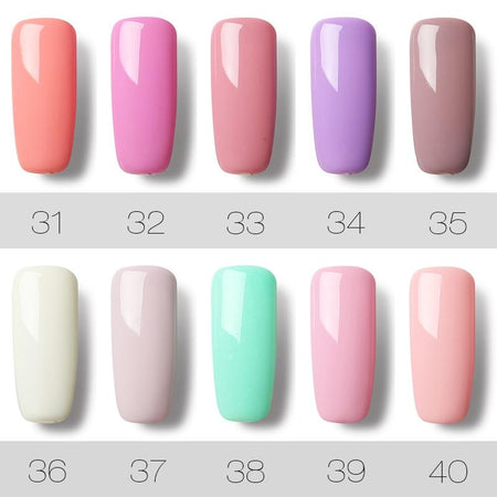ROSALIND Nail Gel Vernis À Ongles 7 ml UV Ongles Art Design Semi Permanent Hybride Gel Pour Ongles Manucure Soak off top Blanc Gel Laque