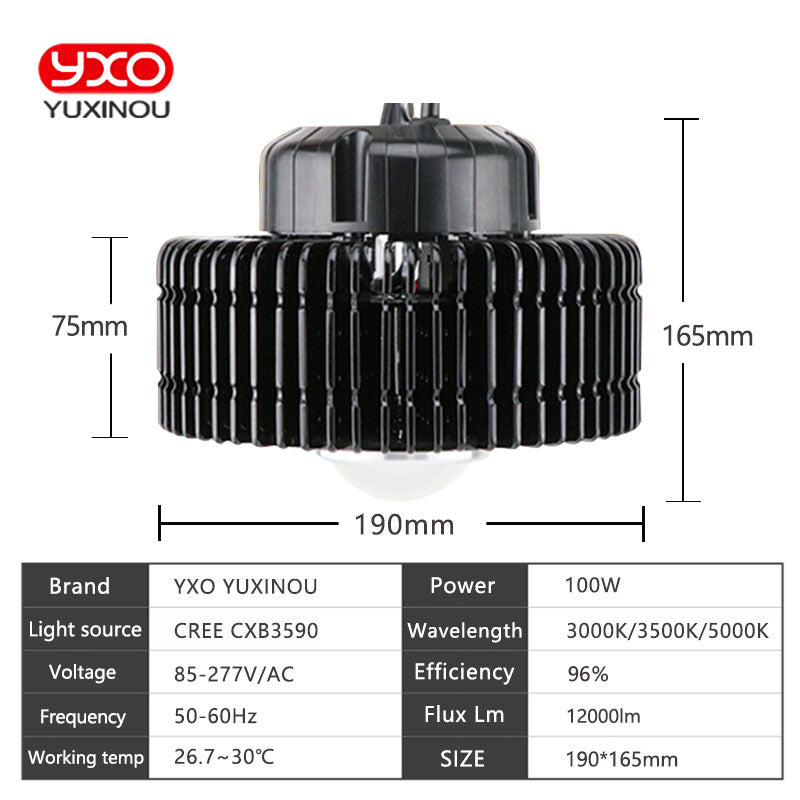 100W 3000K CREE 3500K COB LED Grow Light