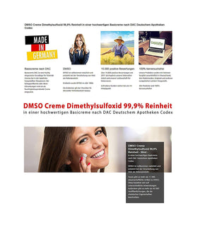 DMSO Creme Dimethylsulfoxid 99,9% Reinheit - 50ml - Naturtotalshop.com