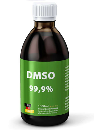 DMSO 1000ml 99,9% Reinheit: Dimethylsulfoxid Unverdünnt ph eur - Made in Germany - Apothekenflasche - Braunglas - Naturtotalshop.com