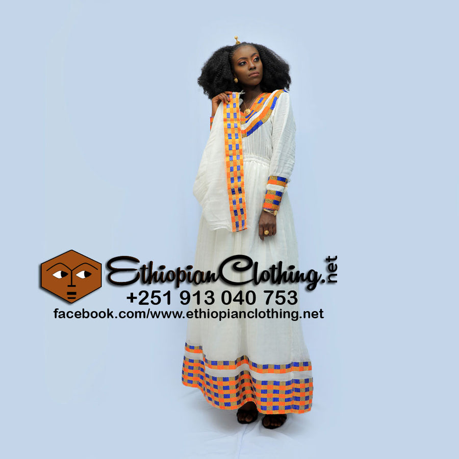 Wuberest Ethiopian traditional dress - EthiopianClothing.Net