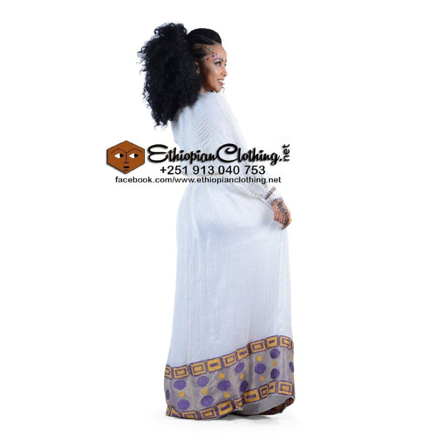Abeba Ethiopian Traditional Dress M Eritrean dresses Ethiopian cultural dress Ethiopian fashion dress Habesha dresses Habesha Libs