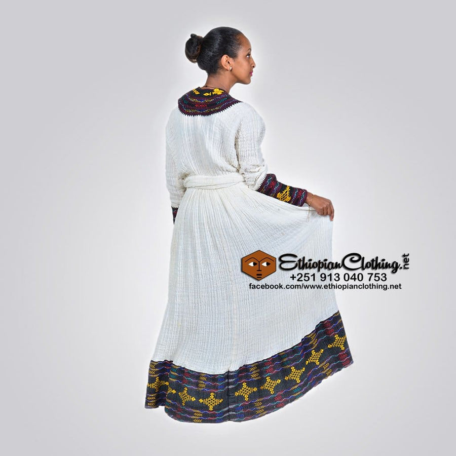 Awi Telfi Habesha kemis Traditional dress Axum tibeb Habesha Libs traditional habesha kemis