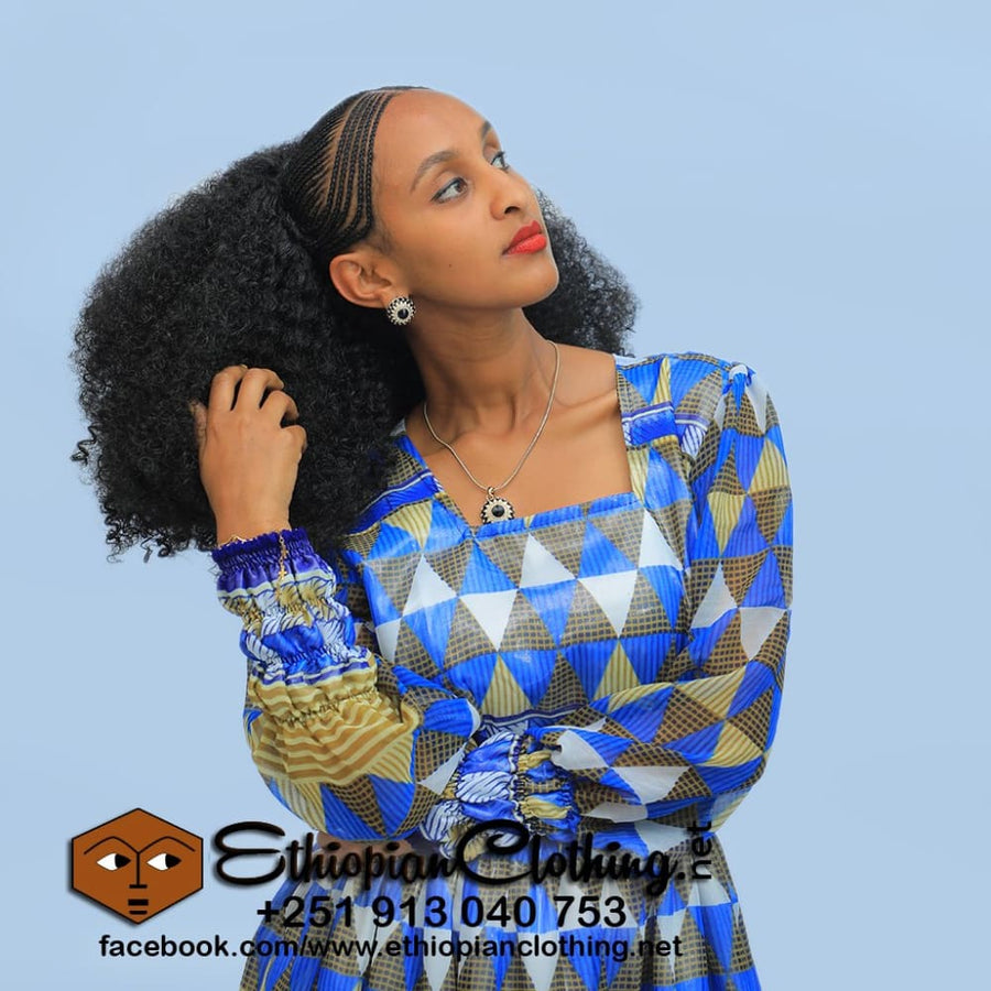 Blue Nile chiffon Chiffon Dress eritrean chiffon dress ethiopian chiffon dress habesha chiffon dress
