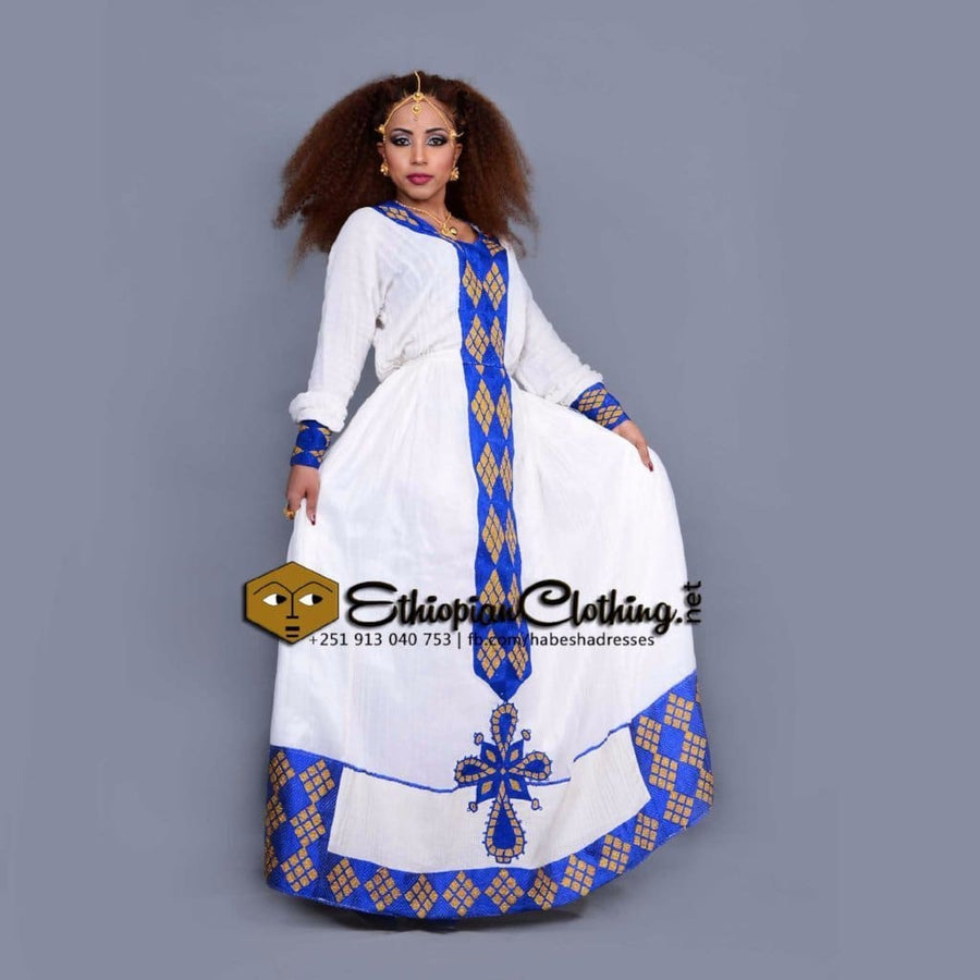 Doka Golden Habesha Dress XXL Eritrean dresses Ethiopian cultural dress Habesha dress