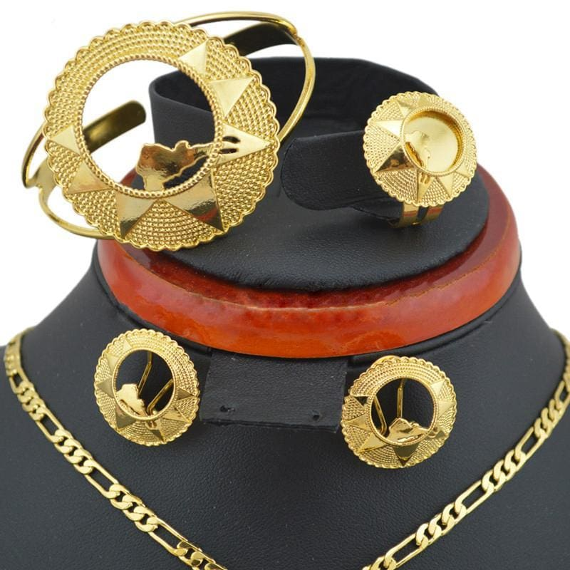 Eritrean Map Jewelry Sets Eritrean Goldplated Jewelry Eritrean Jewelry Set Eritrean Map Ethiopian Gold Jewelry Habesha Jewelry