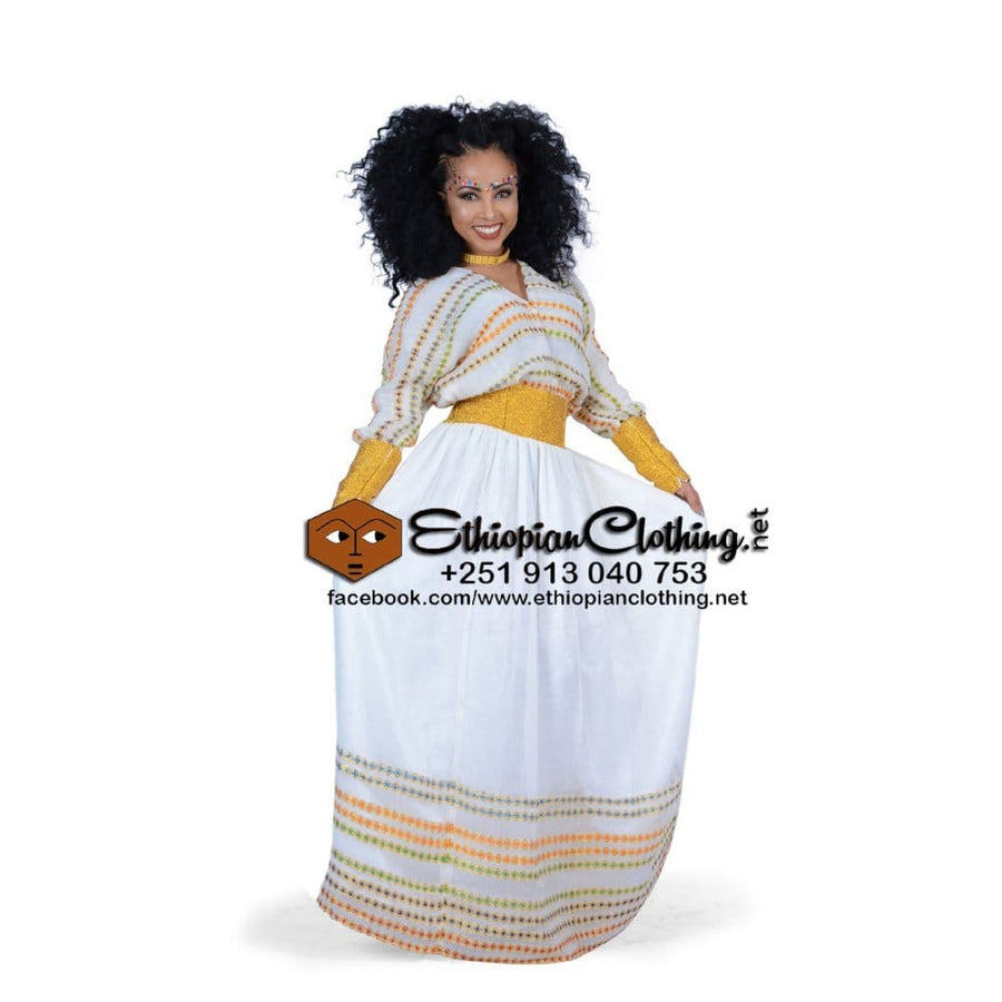 Fiche Ethiopian Traditional Dress XXL Eritrean dresses Ethiopian cultural dress Ethiopian traditional clothing Habesha dresses