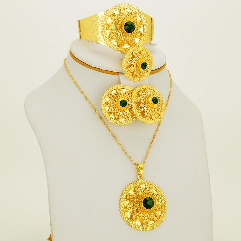 Habesha Chokers Gold Color Jewelry Eritrean jewelry set Ethiopian gold jewelry Habesha jewelry