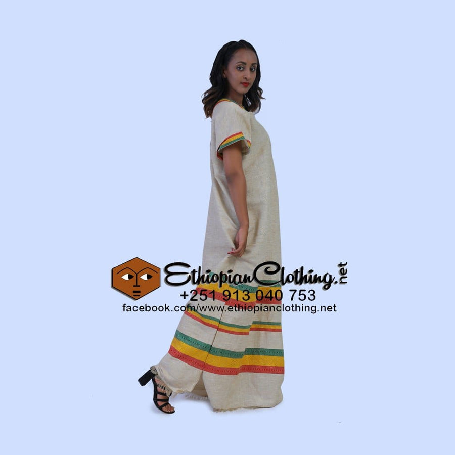 Hagere coffee dress - EthiopianClothing.Net