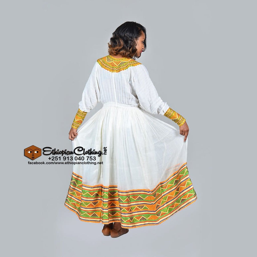 Hemen Traditional Habesha Dress Traditional dress eritrean clothing zuria Ethiopian cultural dress habesha kemis