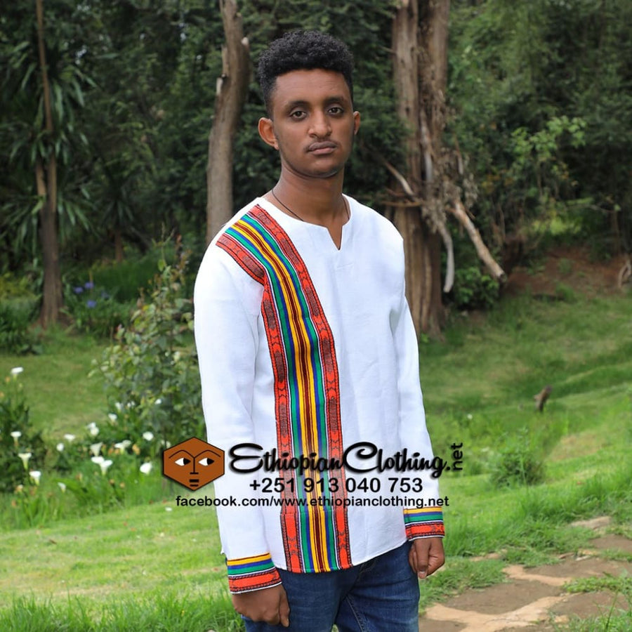 Jifar traditional men cloth tshirt Eritrean men cloth Ethiopian men tshirts ethiopian traditional men clothing