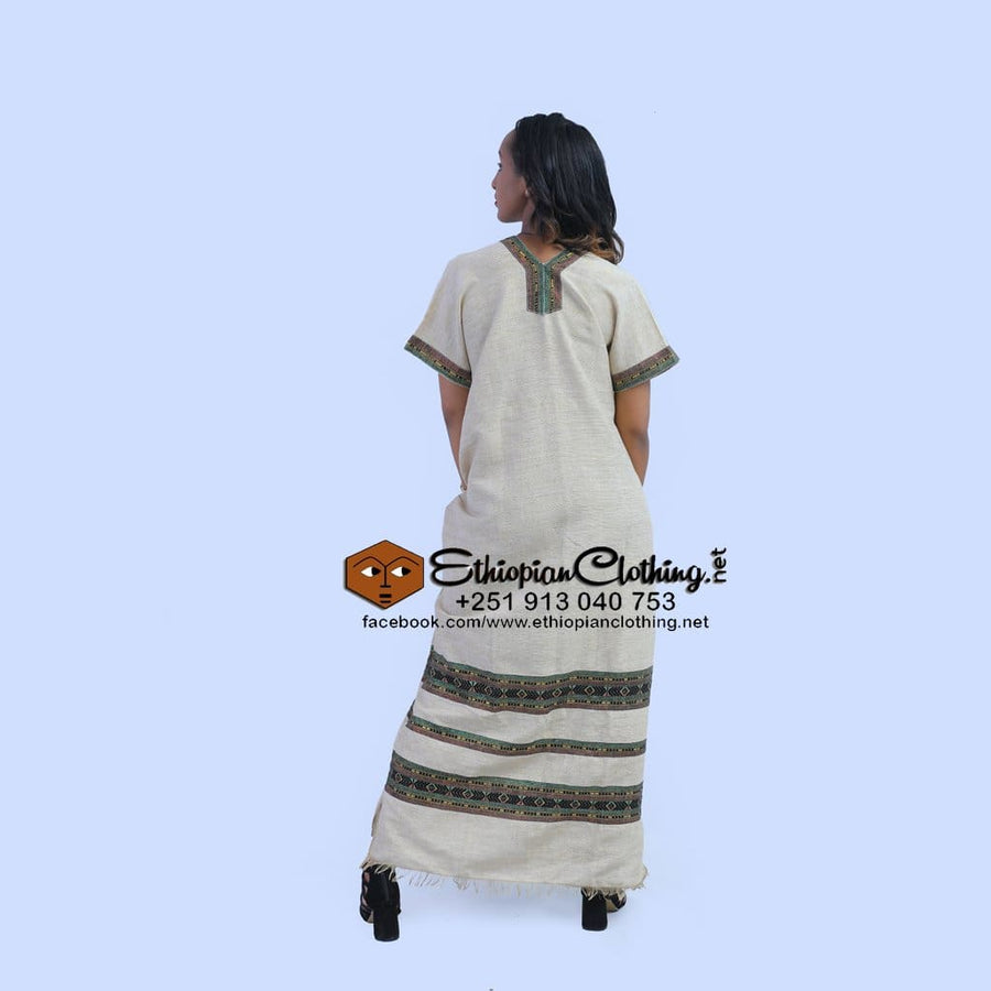 Kuri coffee dress - EthiopianClothing.Net