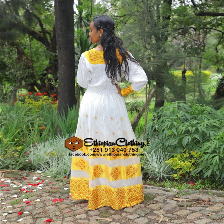 Meron Ethiopian Cloth Habesha dress ethiopian dresses Ethiopian traditional clothes ethiopian wedding dress kemis