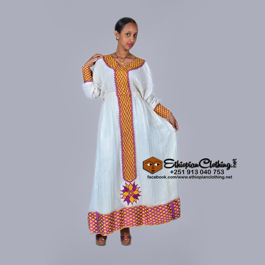 Semira Habesha dress - EthiopianClothing.Net