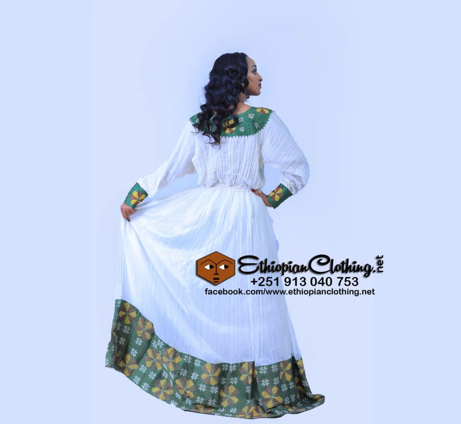 Naomi Habesha Kemis Habesha Dress Eritrean Clothing Ethiopian Clothing Ethiopian Traditional Clothes Habesha Dress Tilfi Habesha Kemis