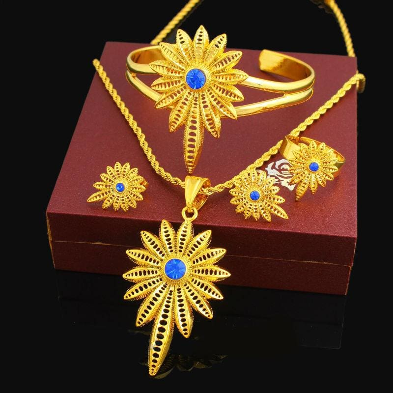 New Stone Ethiopian Jewelry Sets Eritrean jewelry set Ethiopian gold jewelry Habesha jewelry