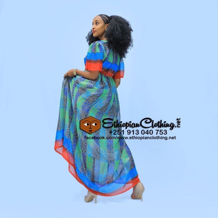 Rekik Traditional chiffon Chiffon Dress chiffon dress eritrean chiffon dress ethiopian chiffon dress habesha chiffon habesha chiffon dress