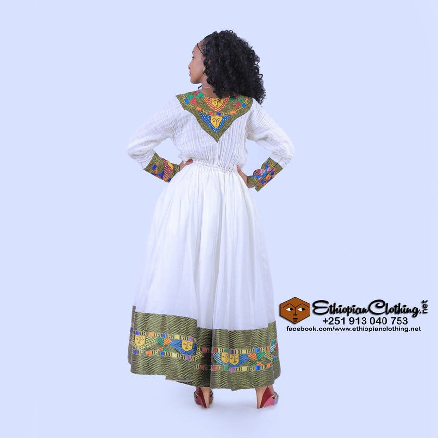Saba Habesha Kemis Traditional dress dress eritrean ethiopian ethiopian clothing Habesha dress