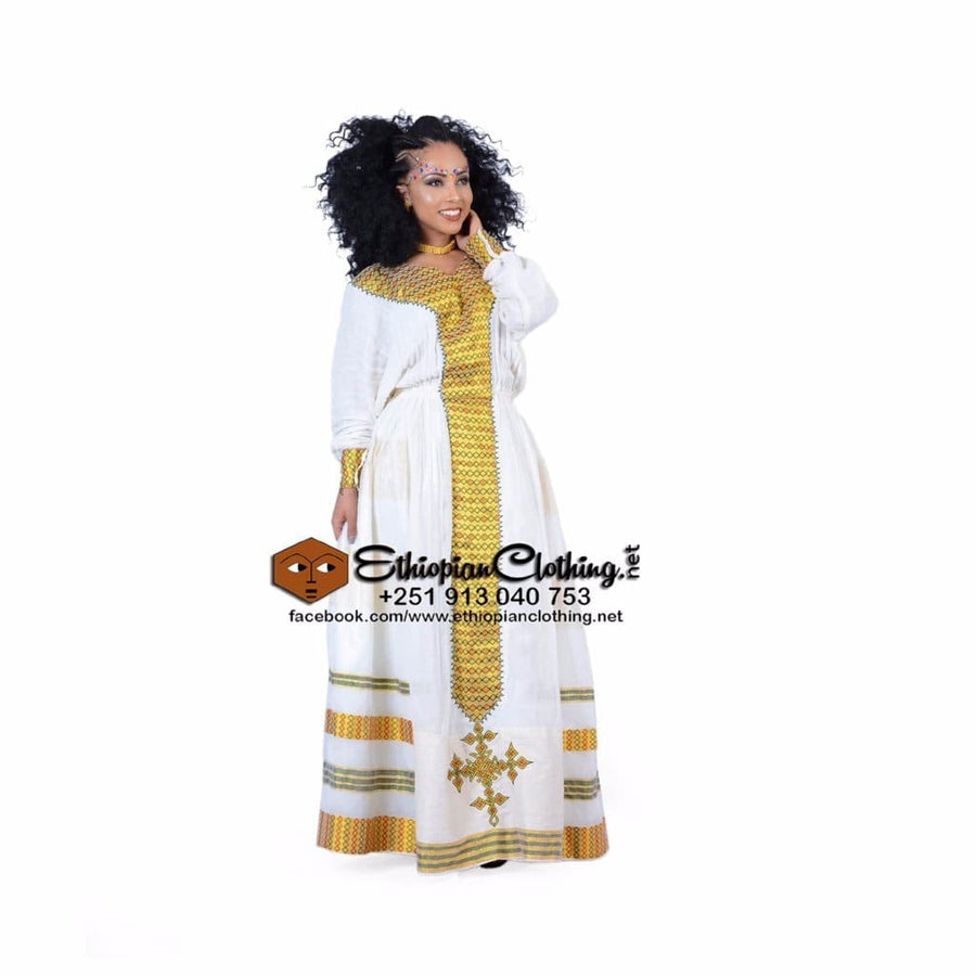 Sanka Habesha Kemis XXL Ethiopian cultural dress Ethiopian traditional clothes Ethiopian traditional clothing