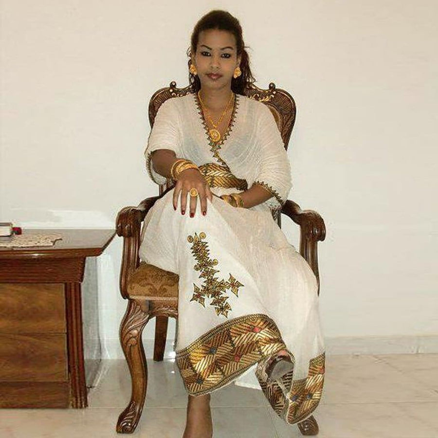 Seko Habesha Traditional Dress - EthiopianClothing.Net