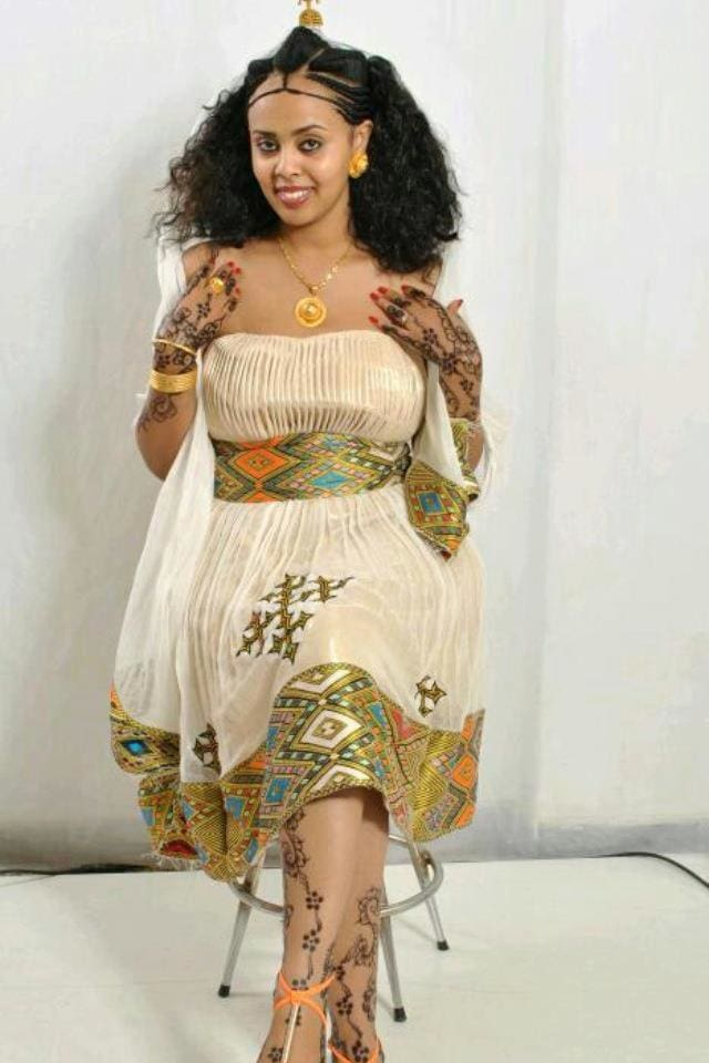 Traditional Habesha Dress-Zenar tibeb - EthiopianClothing.Net