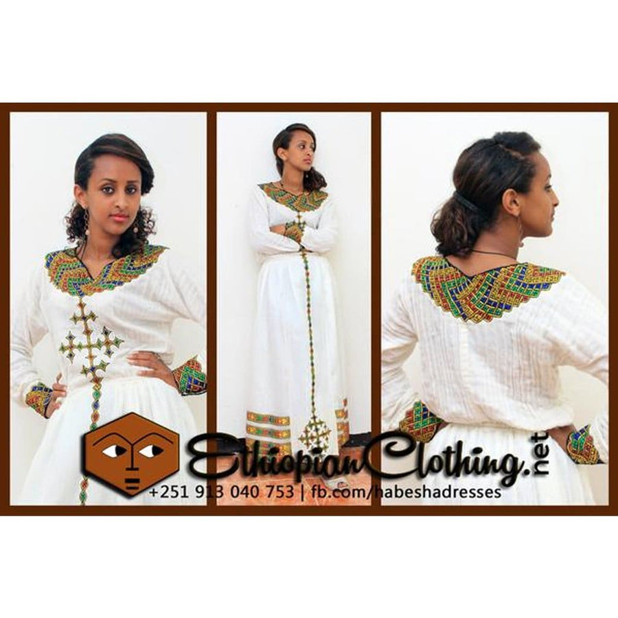 Zenbaba Telf New traditional Habesha Dress traditional eritrean wedding dresses traditional ethiopian wedding dresses traditional habesha