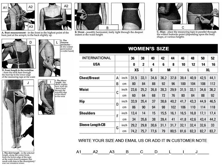 ethiopian clothing measuring guide