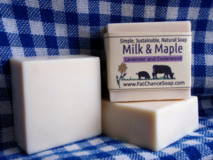Milk and Maple Soap - Lavender and Cedarwood
