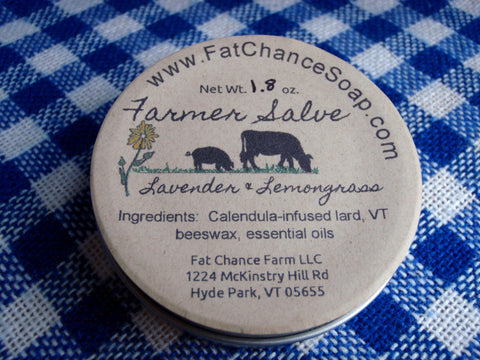 Farmer Salve - Lard, Calendula and Beeswax, 1.7 oz.