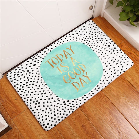 "Tapis de bain ""Today is a good day"""