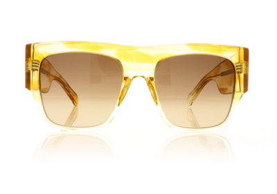 Céline CL40056I 55F Transparent Grad Yellow Sunglasses
