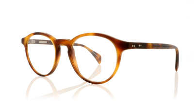 Claire Goldsmith Robinson 3 Matte Dark Tortoiseshell Glasses at OCO
