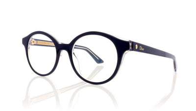 Dior Montaigne 2 MVT Blue Crystal Glasses at OCO