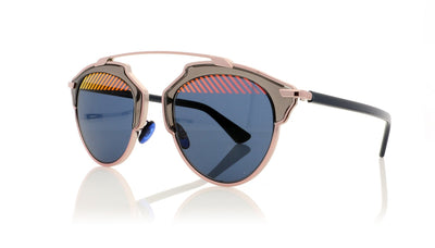 Dior SoReal VUP Pink Striped Lens Sunglasses