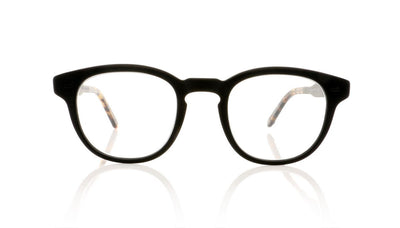 Garrett Leight Warren 1051 MBK/MBK DKTF Matte Black Glasses