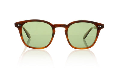 Garrett Leight Mark McNairy 224 Dark Brown Laminate Sunglasses
