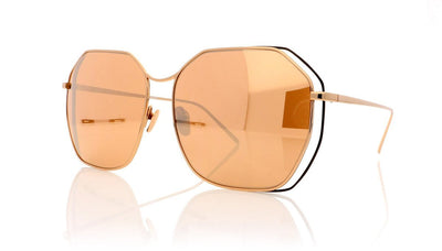 Linda Farrow LFL350 C7 Rose Gold Sunglasses