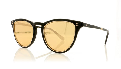 Mr. Leight Runyon SL BK-12KWG/24KG Black-12K White Gold Sunglasses at OCO