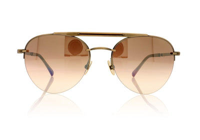 Mr. Leight Rodeo SL ATG-BW/CYN Antique Gold-Beachwood Sunglasses