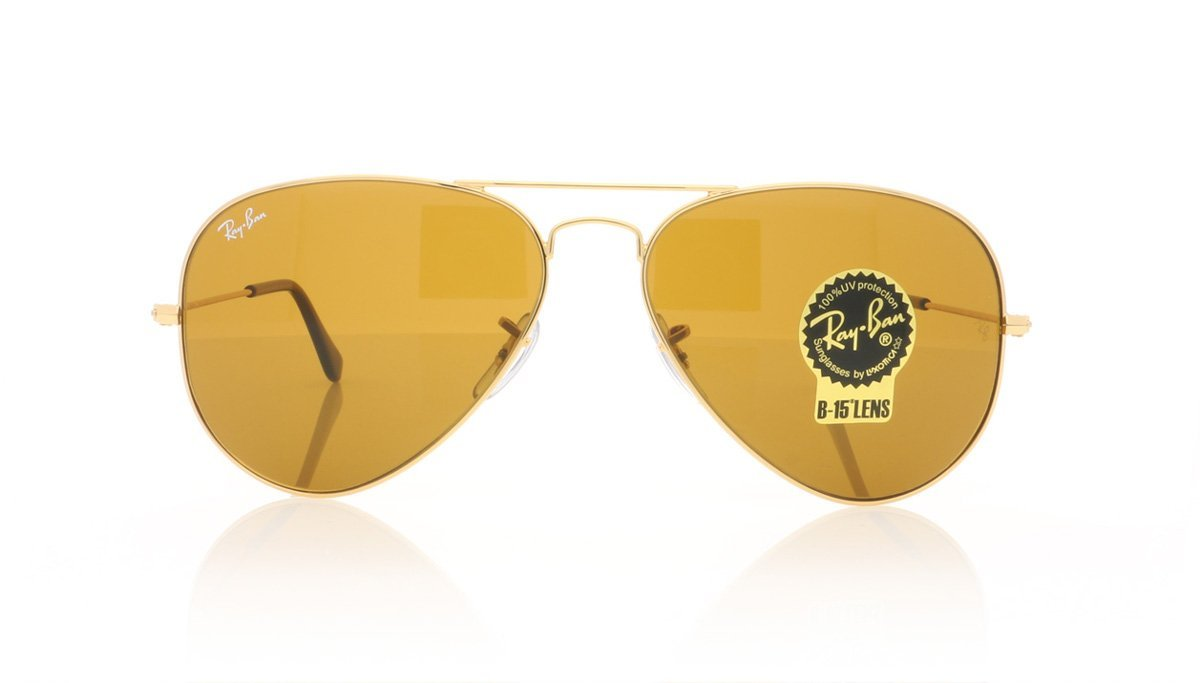 96aeec669b6 Ray-Ban Aviator Large Metal RB3025 001 33 Gold Sunglasses