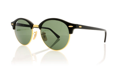 Ray-Ban Clubround RB4246 901 Black Sunglasses at OCO