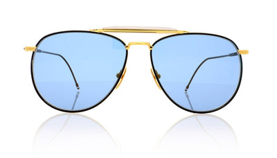 Thom Browne TB-015-LTD NVY-GLD Yellow Gold Sunglasses at OCO