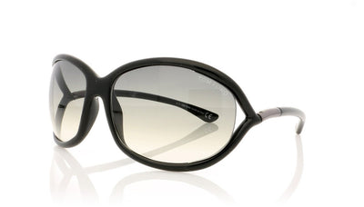 Tom Ford Jennifer TF8 01B Shiny Black Sunglasses