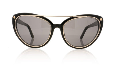 Tom Ford Edita TF384 01A Shiny Black Sunglasses